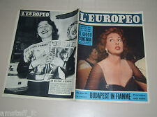 EUROPEO=1956/45=SUSAN HAYWARD=UNGHERIA BUDAPEST GUERRA=CARLETTO MANZONI VIGNETTE