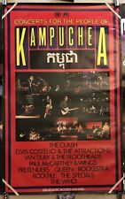 Rock For Kampuchea Promo Poster The Who Pretenders Rockpile Paul McCartney Queen