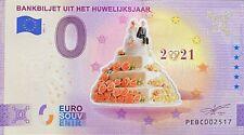 BILLET 0  EURO BANBILJET UIT HET  COULEUR  PAYS BAS 2021 NUMERO DIVERS