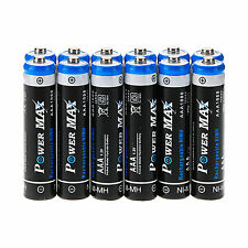 12Pcs Ni-MH BTY AAA 1.2V 1000mAh POWER MAX Rechargeable Battery For CAMERA/Toys