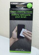 e-CIRCUIT Screen Cleaning Wipes For Many Devices - 20 Sheets - NIB