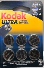 6 PACK 3V KODAK ULTRA LITHIUM COIN CELL/BATTERY 2X CR 2025/ 2X CR2016 /2X CR2032