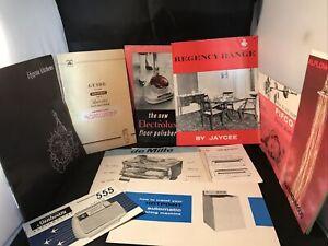 Vintage Instruction Books Electolux Hygena Pifco Hotpoint Paperwork Ephemera
