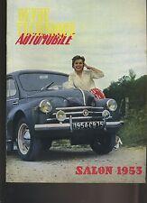 (C3A)REVUE TECHNIQUE AUTOMOBILE Spécial SALON 1953 (couverture 4CV)