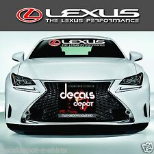 Fits Lexus Rx, Is, Ct, Es, Gs, Ls, Nx, Gx, Lx, Rc & more Windshield Decal (New)