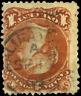 Canada #22 used F 1868 Queen Victoria 1c brown red Large Queen Halifax CDS