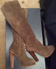 RALPH LAUREN COLLECTION WOMENS NOLITA BOOTS.TAUPE. SIZE:UK4.5  EU 37.5  RRP:£850