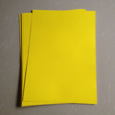 10pc A4 Yellow Matte Self Adhesive Sticker PP Synthetic Paper for Laser Printer
