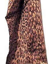 C1 Zauberhafter Schal Halstuch Tuch Viskose 35x160cm Braun Gold