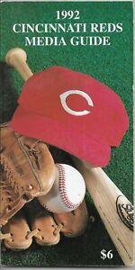 1992 CINCINNATI REDS MLB MEDIA GUIDE VINTAGE FREE SHIPPING