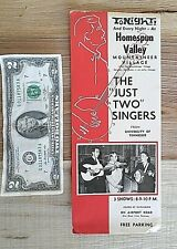 """1950s Homespun Valley Mountaineer Village - The """"Just Two"""" Singers Billing"""