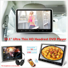 10.1'' HD Car Headrest DVD Player Ultra Thin TFT LCD Screen Display HDMI USB SD