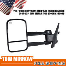 Towing Mirror for 07-13 Chevy Silverado GMC Sierra Power Heated Left SIDE 1P