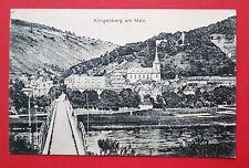 AK KLINGENBERG am Main 1917 Brücke mit Blick zur Kirche   ( 31718