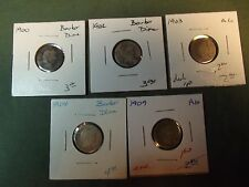 upick ONE date from this group of silver Barber Dimes #4