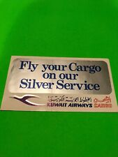 Kuwait Airways Cargo Sticker Vintage