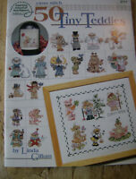 1999 American School of Needlework Cross Stitch Patterns 50 Tiny Teddies #3711