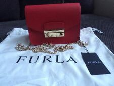 Furla Julia.100% auth.NEW with Tags. RUBY RED COLOUR.BEST PRICE.GORGEUS FURLA .