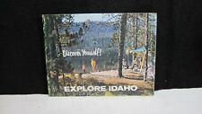 Vintage Explore Idaho Picture Tourism Travel Brochure late 1960's