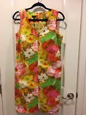 Talbots Sleveless V Neck Floral Shift Dress Size 10 P New RT $145
