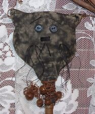 PRIMITIVE HALLOWEEN CAT SHAKER ORNIE MAILED PATTERN!! EASY!! GREAT FOR SHOWS!!