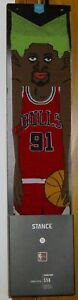2012 STANCE DENNIS RODMAN CARTOON SOCKS NEW W TAGS SIZE L (9-12) CHICAGO BULLS