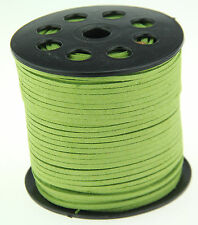 10ya 3mm green Suede Leather String Jewelry Making Thread Cords