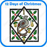 12 DAYS OF CHRISTMAS JUMBO EMBROIDERY DESIGNS ON USB - PES JEF HUS PCS XXX VP3