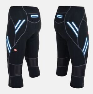 Men Bike Cycling Legging Shorts Padded 3/4 Three Quarter Tights Capris Pants
