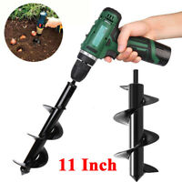 11'' Planting Auger Spiral Hole Drill Bit for Garden Yard Earth Planter Digger