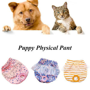 Female Small Dog Puppy Nappy Diaper Underpants Belly Wrap Band Sanitary Pants