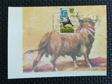 SPAIN MK 1965 STIER BULL TORO TOROS MAXIMUMKARTE CARTE MAXIMUM CARD MC CM c3989