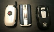 Lot of 3 Vintage Cell Phones for Parts Batteries included