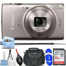 Canon PowerShot ELPH 360 HS Digital Camera (Silver) 1078C001 + 32GB Bundle