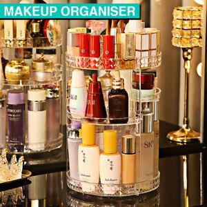 360 Rotating Makeup Organiser Cosmetic Storage Box Jewelry Perfume Display Stand