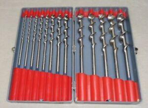 Vintage Craftsman Boxed Set Auger Hand Drill Brace Bits 4-16