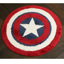 21x21 Round Floor Mats Rug Door Carpets Bath Mat Bathroom Rugs Captain America