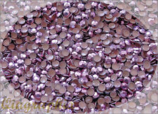 1440x10 Pcs SS12 3mm Iron On Hotfix Sparkling Faceted Rhinestuds Pink AS3E