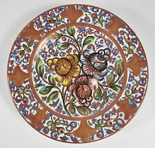 """Vintage HISPANO MORESQUE Spanish 7"""" Copper Luster Pottery Plate"""