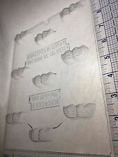 MUSTACHE BITE SIZE CLEAR PLASTIC CHOCOLATE CANDY MOLD F022