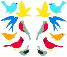 ~ Retired NLA Bird Birds Nature Blue Yellow Red Grey Mrs Grossman Stickers ~