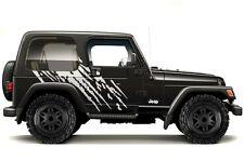 Custom Vinyl Graphics Decal Wrap Kit for 1999-2006 Jeep Wrangler SPLASH WHITE