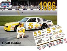 CD_DC_1986 #5 Geoff Bodine  1986 Chevy Monte Carlo 1:64 Decals  ~OVERSTOCK~