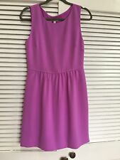 J. Crew Camille Purple Lilac Matte Crepe Sleeveless Dress Sz 6