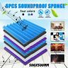 6pcs Pack Studio Acoustic Foam Sound Absorbtion Proofing KTV Room Panel 50x50CM