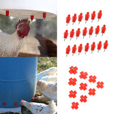 Set of 30 Automatic Chicken Water Nipple Waterer Kit for Chicken Duck Hen