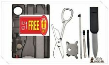 12 in 1 Survival Travel Camping Multi Tool - Victorinox Swiss Style Credit Card