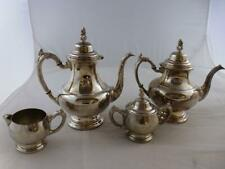 Silver Plated Oneida Teapot and Coffee Pot with Jug and Sugar Bowl