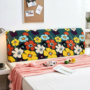 Bedside Cover Printed Stretch Bed Floral Headboard Covers Dustproof Home Decor