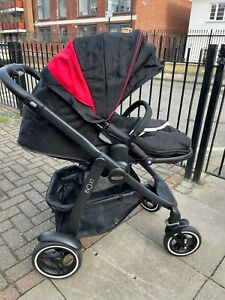 Graco EVO XT Black & Red Buggy Pushchair Stroller - Baby Infant From Birth